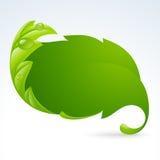 Vector el marco verde de la hoja, fondo 3 del resorte Imagenes de archivo