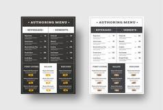 Vector el menú de la plantilla para los cafés y los bloques de los restaurantes para yo libre illustration