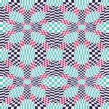 Vector el modelo abstracto 3d, fondo inconsútil rojo de la geometría del inconformista de la geometría del color Imagenes de archivo