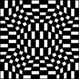 Vector el modelo abstracto de la geometría del inconformista, el fondo geométrico inconsútil blanco y negro, la almohada sutil y  Foto de archivo libre de regalías