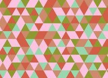 Vector el modelo colorido moderno del triángulo de la geometría, extracto del color Imagen de archivo