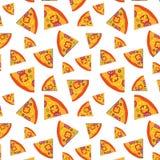 Vector el modelo con el fondo de las rebanadas y de las verduras de la pizza diseño del ejemplo del arte imagenes de archivo