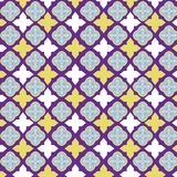 Vector el modelo de la teja, mosaico floral de Lisboa, ornamento inconsútil mediterráneo de los azules marinos foto de archivo