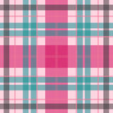 Vector el modelo escocés inconsútil del tartán en el rosa blando, azul Imagen de archivo