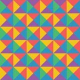 Vector el modelo geométrico colorido abstracto retro y el st del art déco ilustración del vector