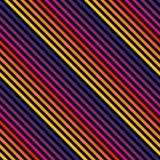 Vector el modelo inconsútil de las rayas de la diagonal en colores brillantes Moda retra 80-90's stock de ilustración