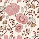 Vector el modelo inconsútil con las flores y las plantas estilizadas Estilo decorativo Papel pintado floral drenado mano Contexto ilustración del vector