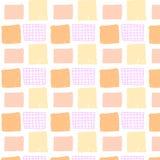 Vector el modelo inconsútil con los cuadrados dibujados mano coloreados Imagen de archivo