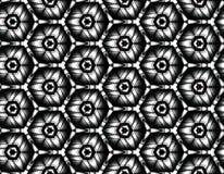 Vector el modelo inconsútil de flores con los elementos que ponen en contraste ilustración del vector