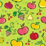 Vector el modelo inconsútil de la fruta Fotos de archivo