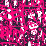 Vector el modelo inconsútil de la pintada con t brillante colorido abstracto fotografía de archivo