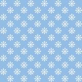 Vector el modelo inconsútil de los copos de nieve blancos en el fondo azul Decoración del invierno Imágenes de archivo libres de regalías