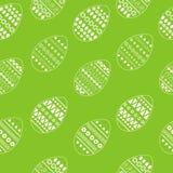 Vector el modelo inconsútil de los huevos de Pascua blancos adornados Diseño fresco y de la primavera para las tarjetas de felici Foto de archivo libre de regalías