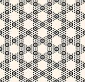 Vector el modelo inconsútil del hexágono geométrico y la textura blanca del panal con pequeñas formas de maleficio libre illustration