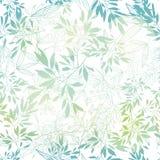 Vector el modelo inconsútil del verde azul del verano tropical en colores pastel de las hojas con las plantas tropicales y las ho stock de ilustración