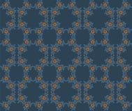 Vector el modelo inconsútil floral con las plantas en un fondo azul marino Imagen de archivo libre de regalías