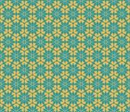 Vector el modelo inconsútil floral en colores azules y anaranjados Imagen de archivo