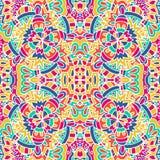 Vector el modelo inconsútil Impresión geométrica étnica Textura de repetición colorida del fondo Tela, diseño del paño, papel pin Fotos de archivo libres de regalías