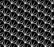 Vector el modelo inconsútil moderno extraño, extracto blanco y negro de la geometría stock de ilustración