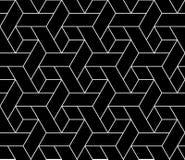 Vector el modelo inconsútil moderno trippy, extracto blanco y negro de la geometría libre illustration