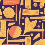 Vector el modelo inconsútil El papel rasgado adornó puntos de la pintura y de la tinta Diversas formas con los bordes acanalados  imagen de archivo libre de regalías