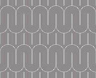 Vector el modelo inconsútil textura con estilo moderna Ornamento rayado geométrico El tejer linear monocromático Fotos de archivo