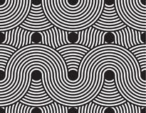 Vector el modelo inconsútil textura con estilo moderna Ornamento rayado geométrico El tejer linear monocromático Imágenes de archivo libres de regalías