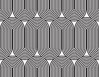 Vector el modelo inconsútil textura con estilo moderna Ornamento rayado geométrico El tejer linear monocromático Imagen de archivo libre de regalías