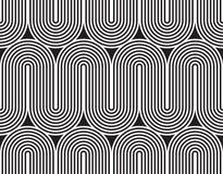 Vector el modelo inconsútil textura con estilo moderna Ornamento rayado geométrico El tejer linear monocromático stock de ilustración