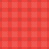 Vector el modelo inconsútil textura con estilo moderna Repetición de las tejas geométricas con el cuadrado punteado Imagen de archivo