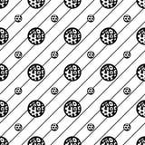 Vector el modelo inconsútil Textura abstracta Repetición del fondo con los círculos y de rayas con la dirección diagonal Fotos de archivo