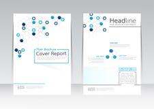 Vector el negocio de la tecnología de diseño para el cartel del aviador del folleto del informe de la cubierta de tamaño A4 Imagen de archivo
