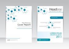 Vector el negocio de la tecnología de diseño para el cartel del aviador del folleto del informe de la cubierta de tamaño A4 Fotografía de archivo libre de regalías