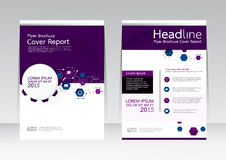 Vector el negocio de la tecnología de diseño para el cartel del aviador del folleto del informe de la cubierta de tamaño A4 Imagenes de archivo