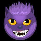 Vector el regalo sonriente EPS ai del amante del wolfman de los emoticons del hombre lobo de la cara del emoji de los monstruos d libre illustration