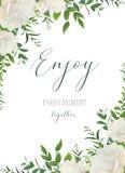 Vector el saludo floral de la acuarela, boda invitan, ahorran a la fecha stock de ilustración