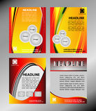 Vector el sistema de la plantilla del folleto, del aviador, de la portada de revista y del cartel del negocio corporativo Imagen de archivo libre de regalías