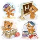Vector el sistema de números con un oso de peluche de la diversión Foto de archivo