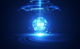 Vector el sistema global de la placa de circuito futurista abstracta, alto concepto azul del color de la tecnología digital del e ilustración del vector