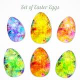 Vector el sistema moderno de los huevos brillantes felices de pascua para Foto de archivo libre de regalías