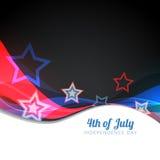 Vector el 4to del diseño de julio stock de ilustración
