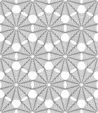 Vector el web de araña inconsútil moderno del modelo de la geometría Halloween, extracto blanco y negro Foto de archivo