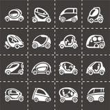 Vector Electric car icon set Royalty Free Stock Photos