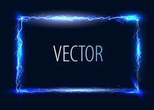 Vector electric frame Royalty Free Stock Photos