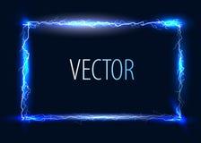 Vector electric frame Royalty Free Stock Photos