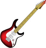 Vector electric guitar Royalty Free Stock Photography