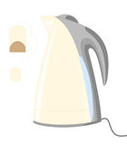 Vector electric kettle and teabag. Vector illustration of electric kettle and teabag Royalty Free Stock Images