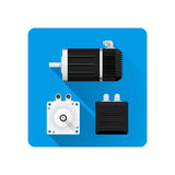 Vector Electric Motor Flat Illustration Royalty Free Stock Photography