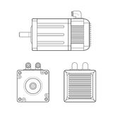 Vector Electric Motor Outline Illustration Stock Image