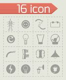 Vector Electricity icon set Stock Image